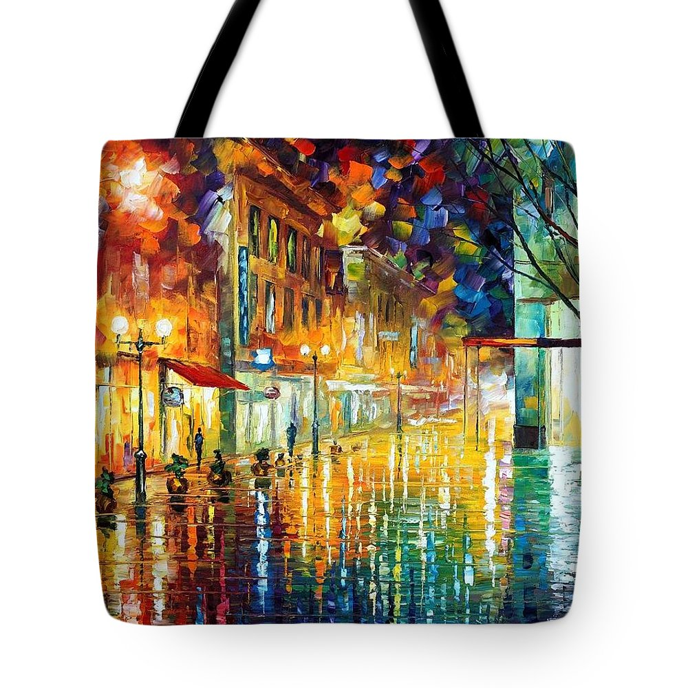 Afremov Tote Bag featuring the painting Scent Of Rain by Leonid Afremov