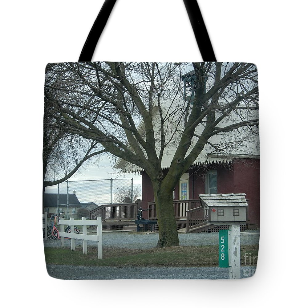 Amish Tote Bag featuring the photograph Scholars In The Schoolhouse by Christine Clark