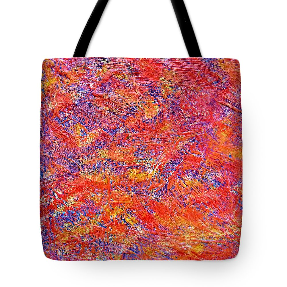 Abstract Tote Bag featuring the painting School Shootings by Judith Redman