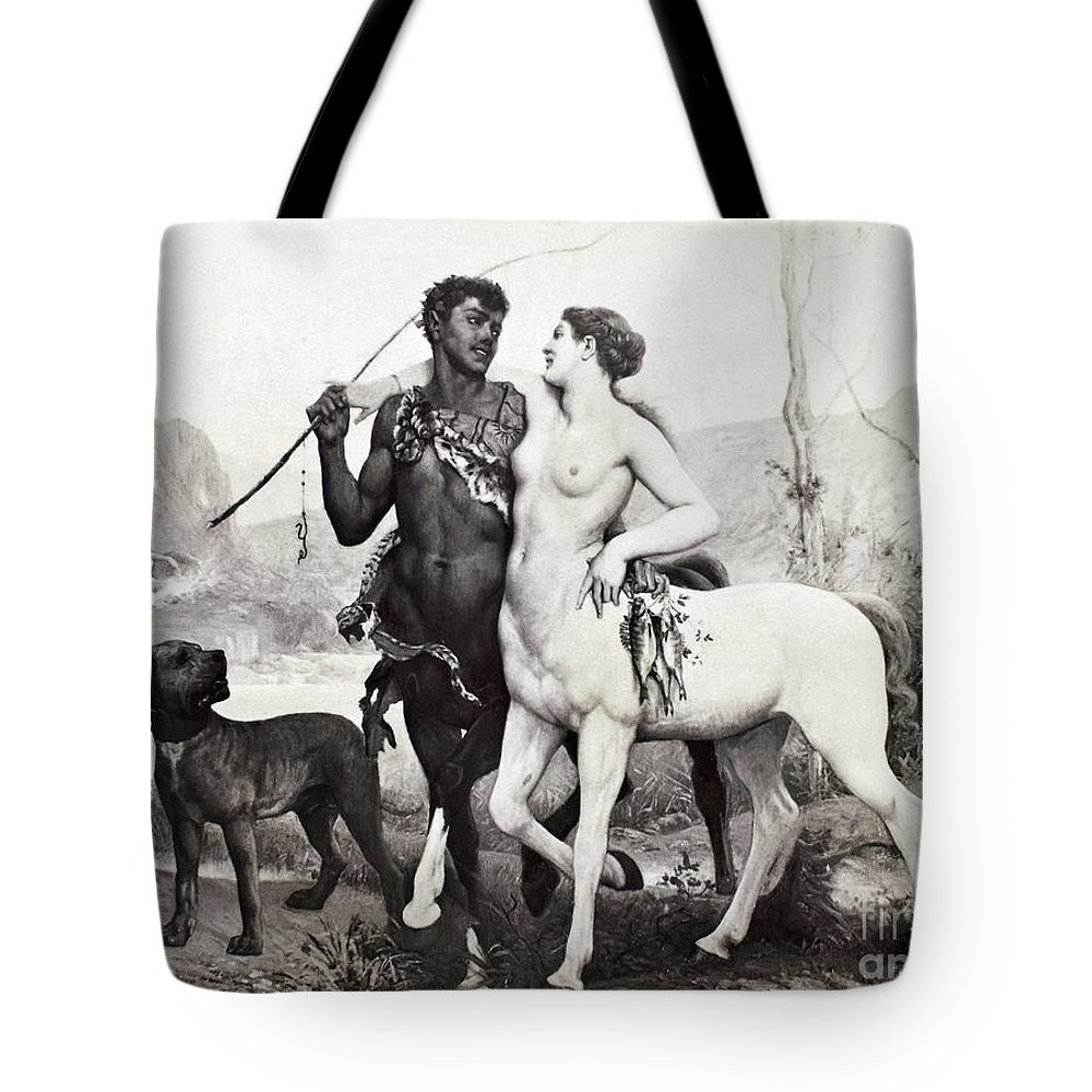 Ancient Tote Bag featuring the photograph Schutzenberger Centaurs by Granger