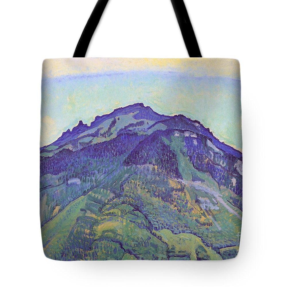 Ferdinand Hodler Tote Bag featuring the painting Schynige Plate by Celestial Images