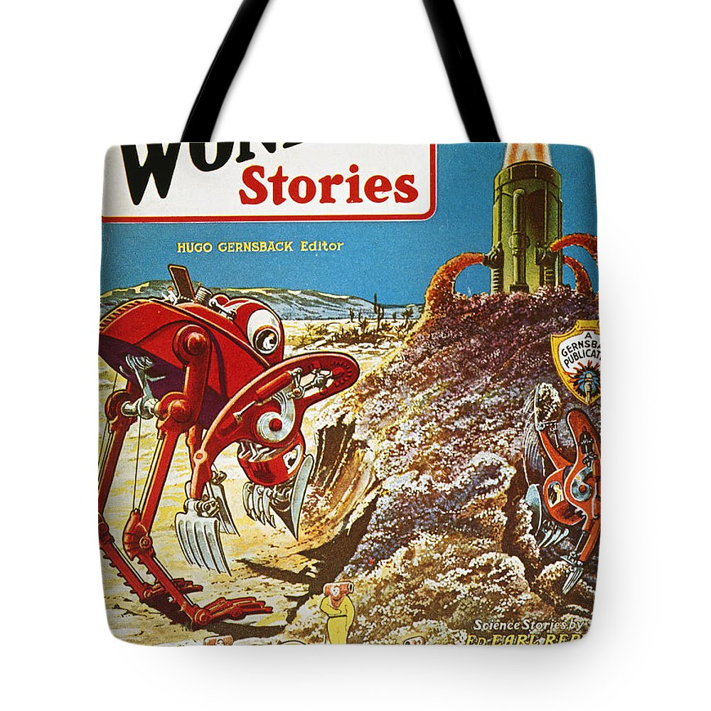 1929 Tote Bag featuring the photograph Sci-fi Magazine Cover, 1929 by Granger