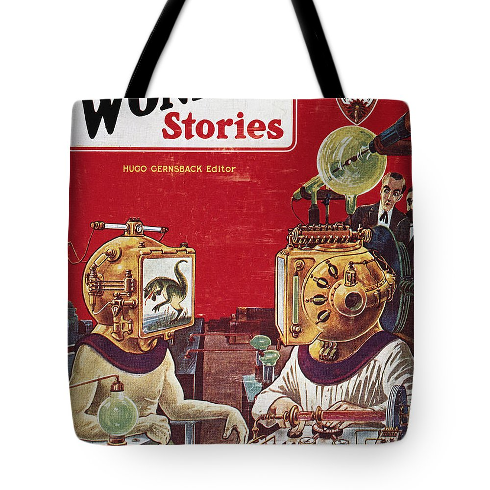 1929 Tote Bag featuring the photograph Science Fiction Cover, 1929 by Granger