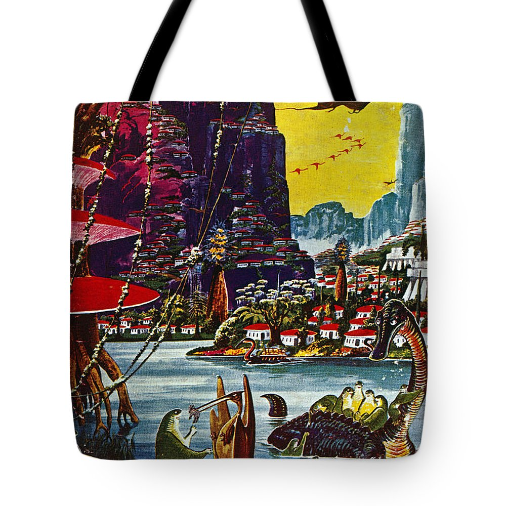 1941 Tote Bag featuring the photograph Science Fiction Cover, 1941 by Granger