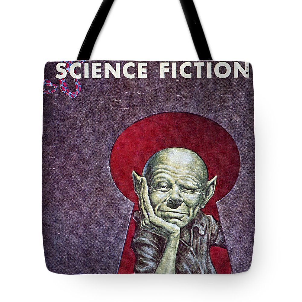 1954 Tote Bag featuring the photograph Science Fiction Cover, 1954 by Granger