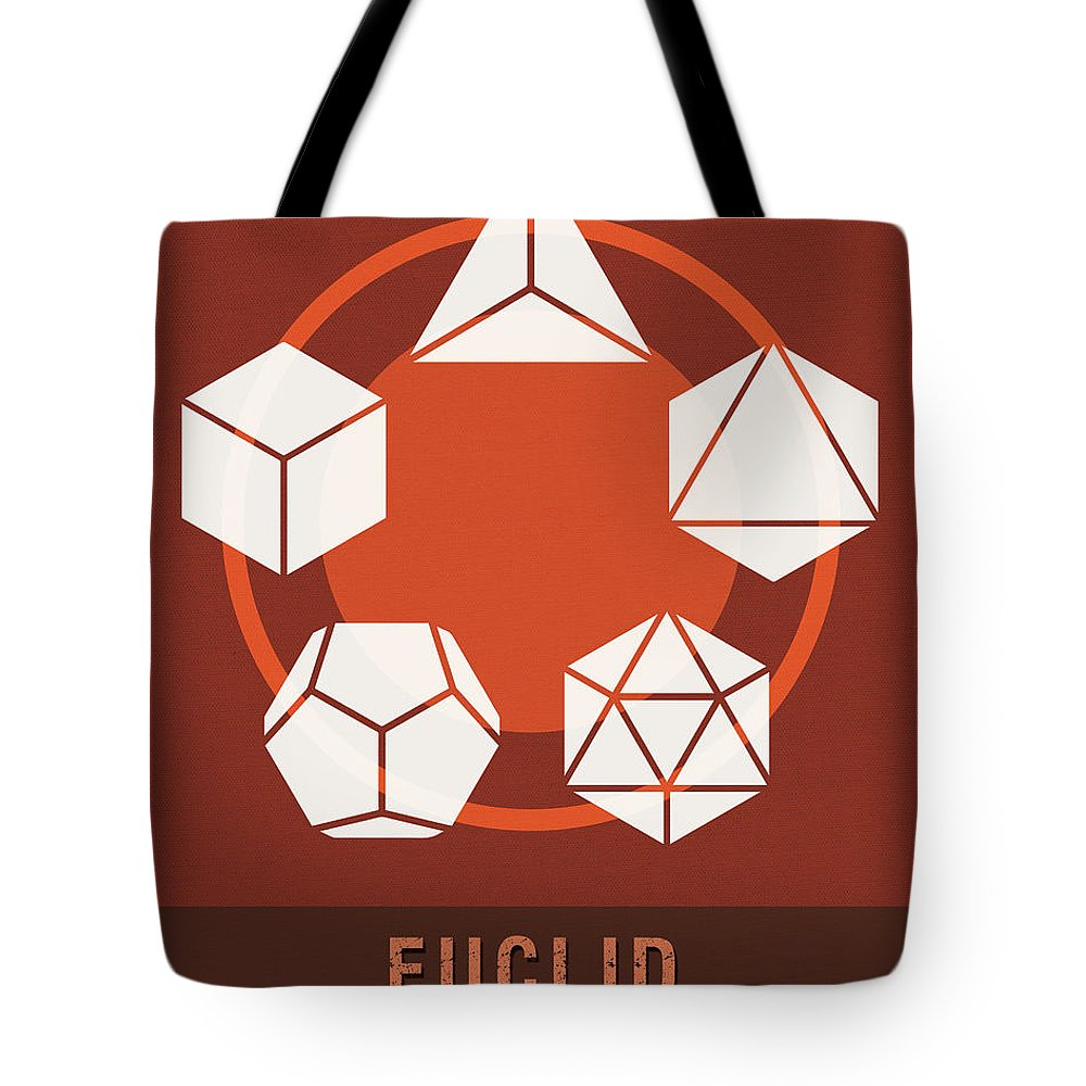 Euclid Tote Bag featuring the mixed media Science Posters - Euclid - Mathematician by Studio Grafiikka