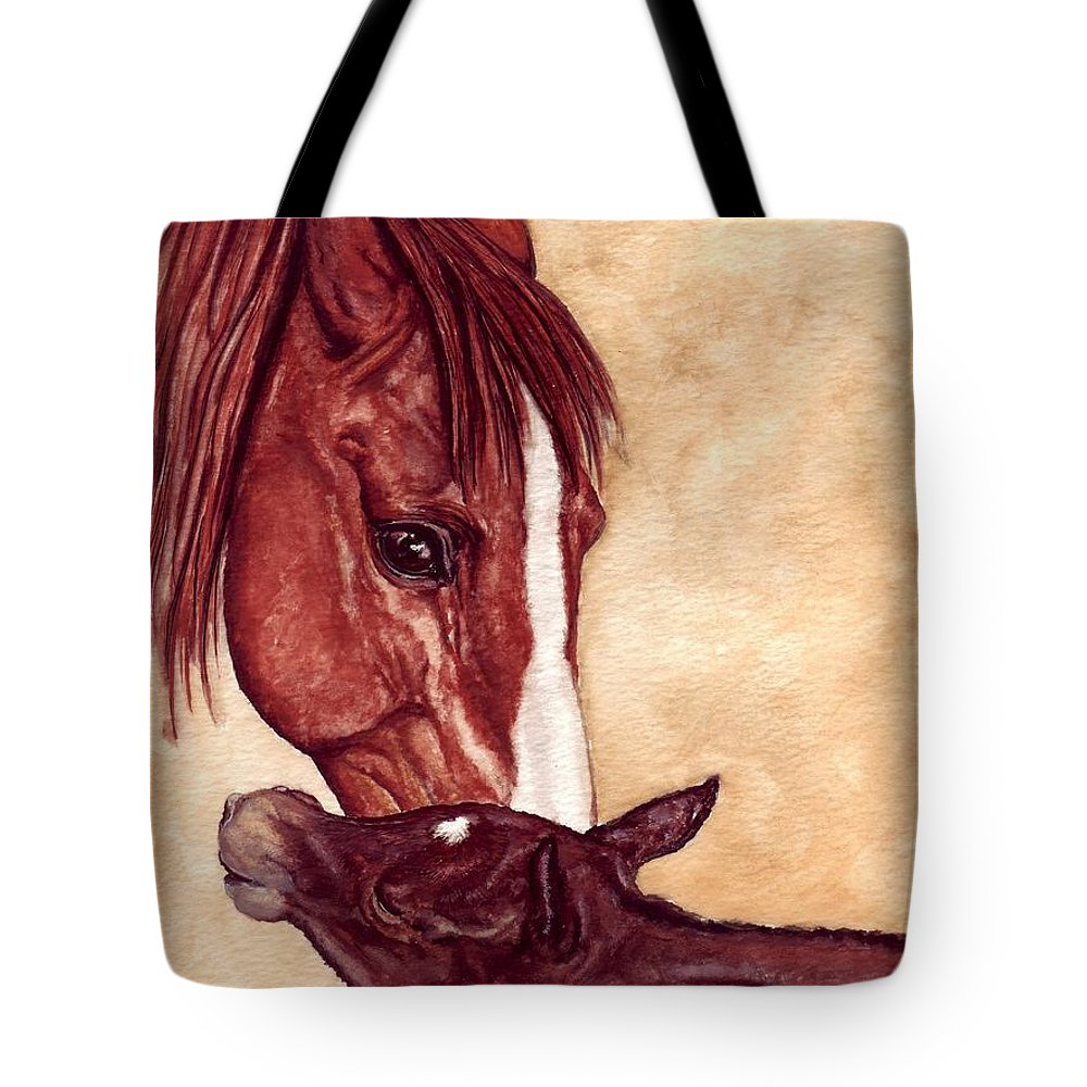 Horse Tote Bag featuring the painting Scootin by Kristen Wesch