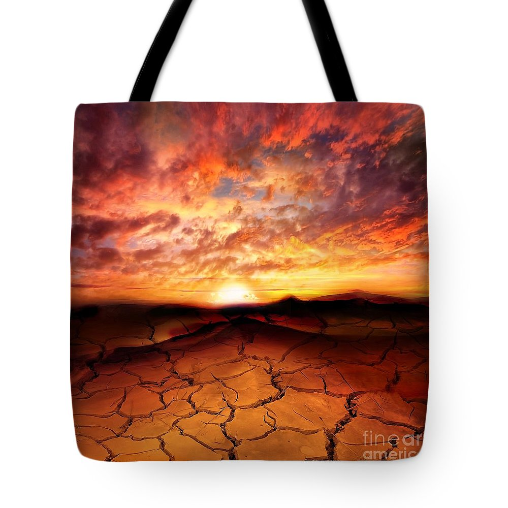 Photodream Tote Bag featuring the photograph Scorched Earth by Jacky Gerritsen
