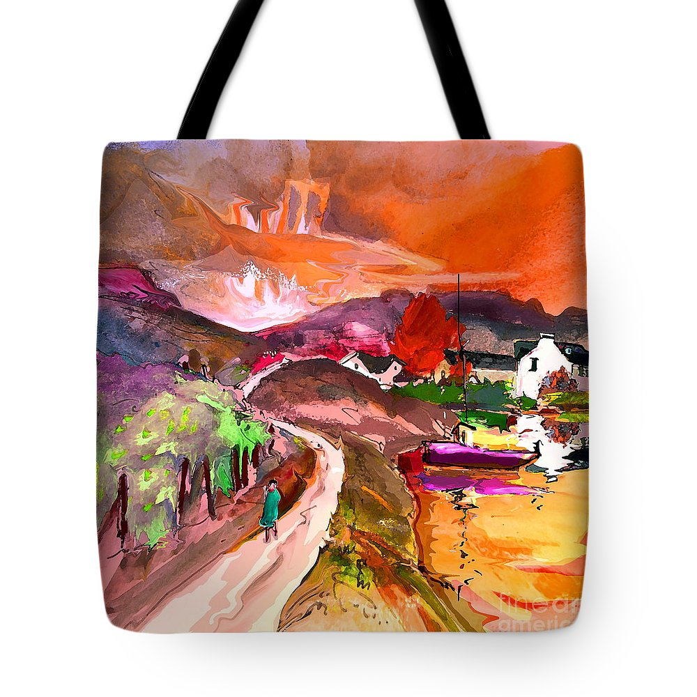 Scotland Paintings Tote Bag featuring the painting Scotland 02 by Miki De Goodaboom