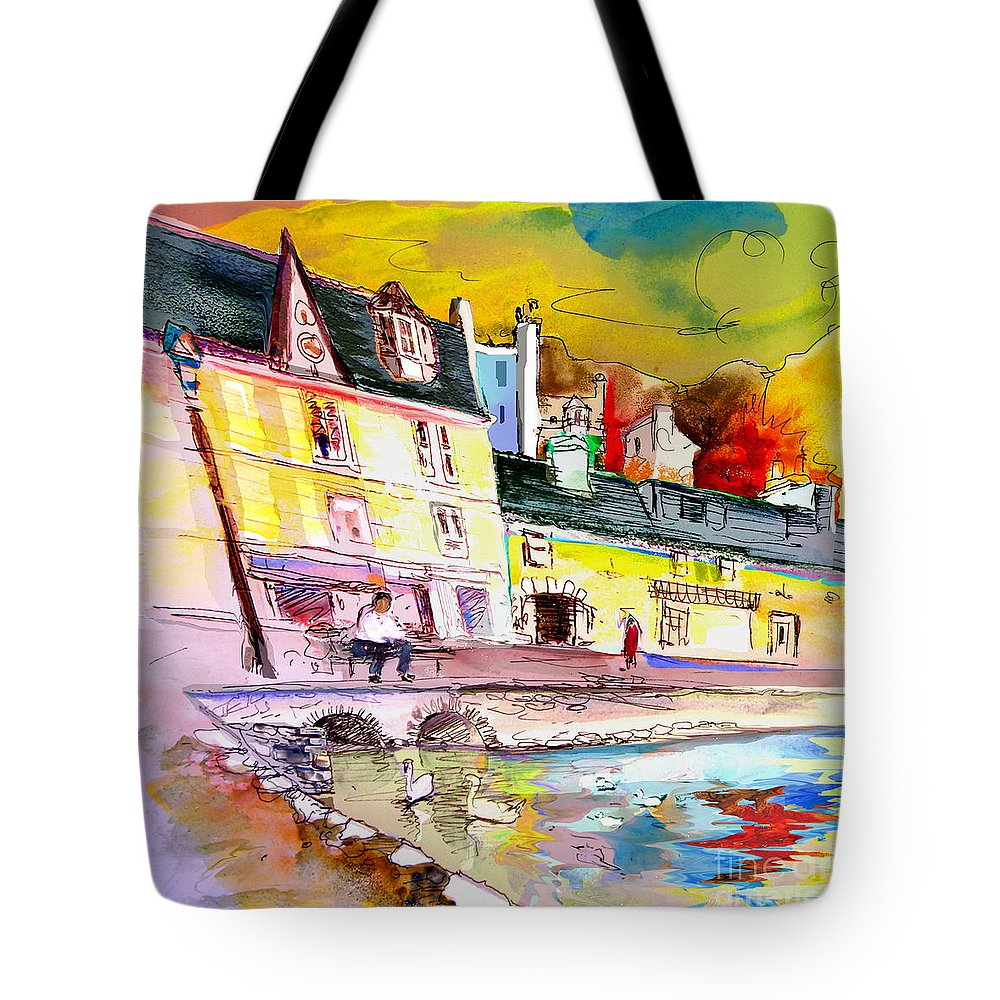 Scotland Paintings Tote Bag featuring the painting Scotland 04 by Miki De Goodaboom