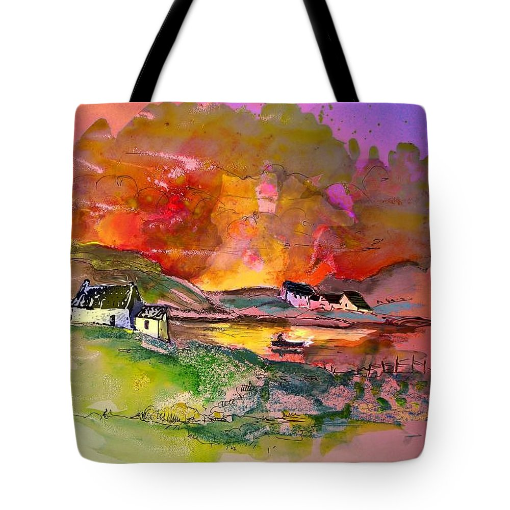 Scotland Paintings Tote Bag featuring the painting Scotland 07 by Miki De Goodaboom