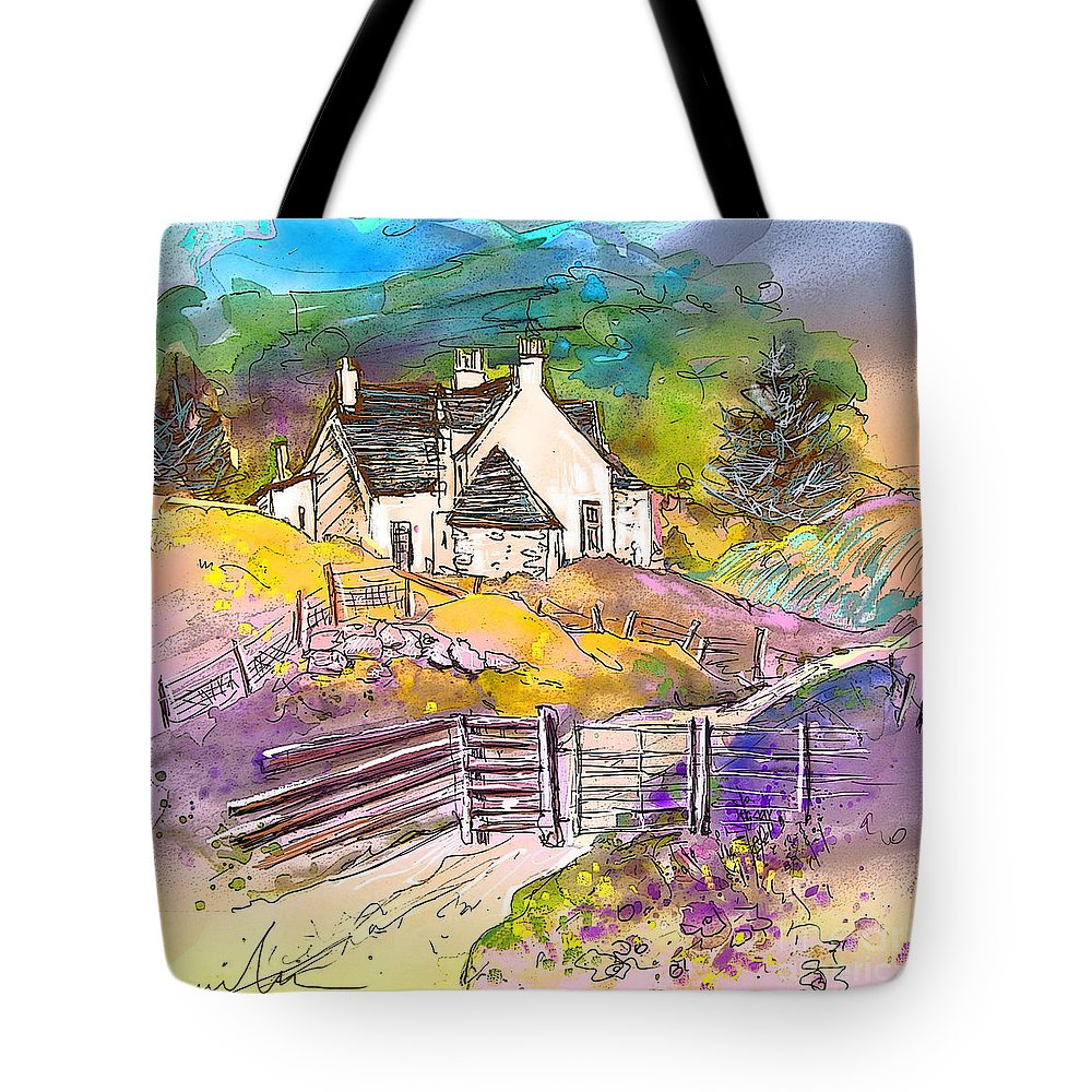 Scotland Paintings Tote Bag featuring the painting Scotland 16 by Miki De Goodaboom