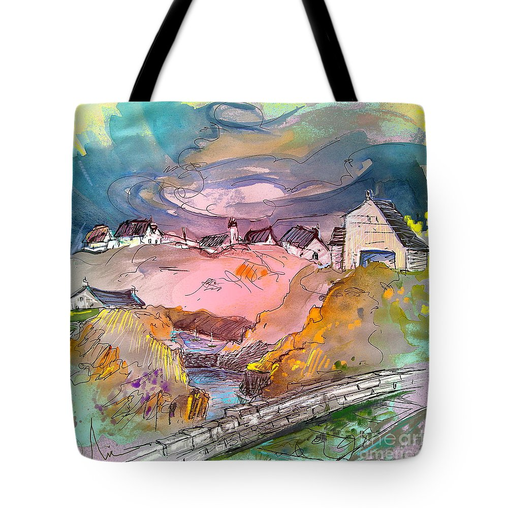 Scotland Paintings Tote Bag featuring the painting Scotland 17 by Miki De Goodaboom