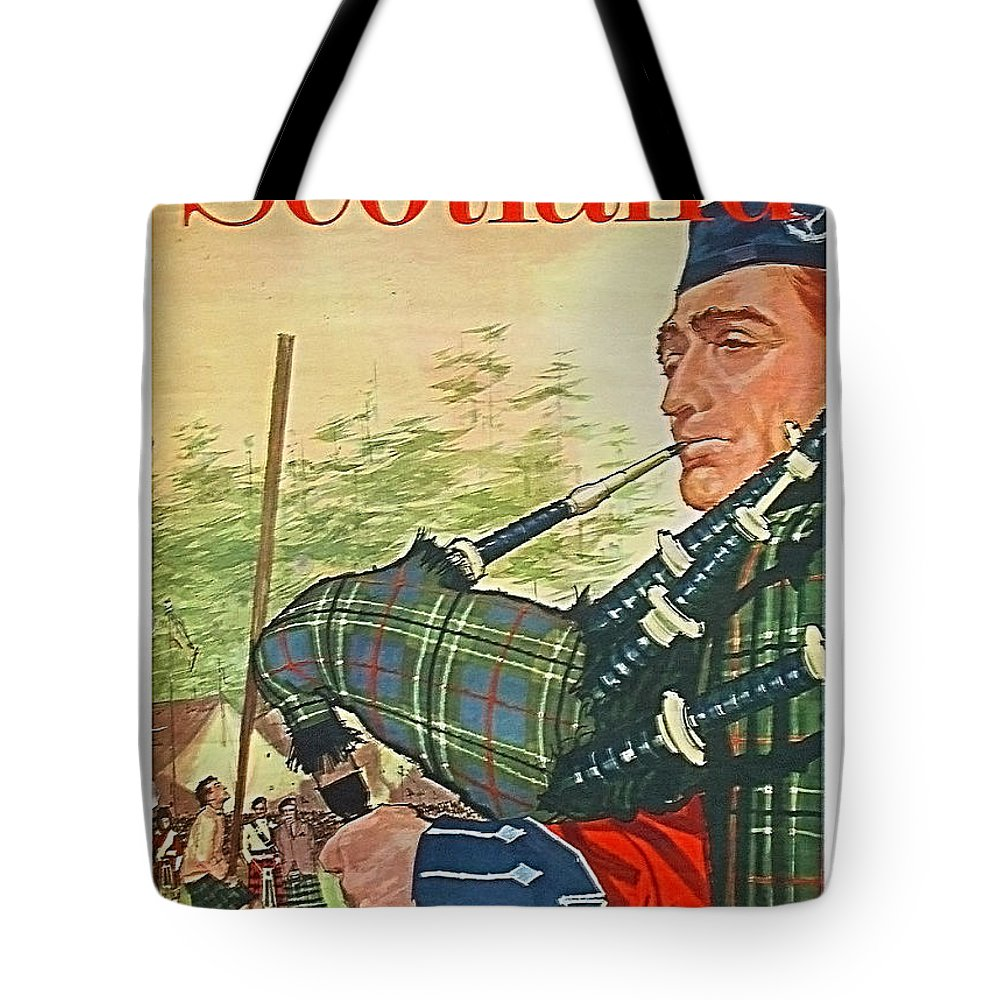 Scotland Tote Bag featuring the painting Scotland 54bc61d692172