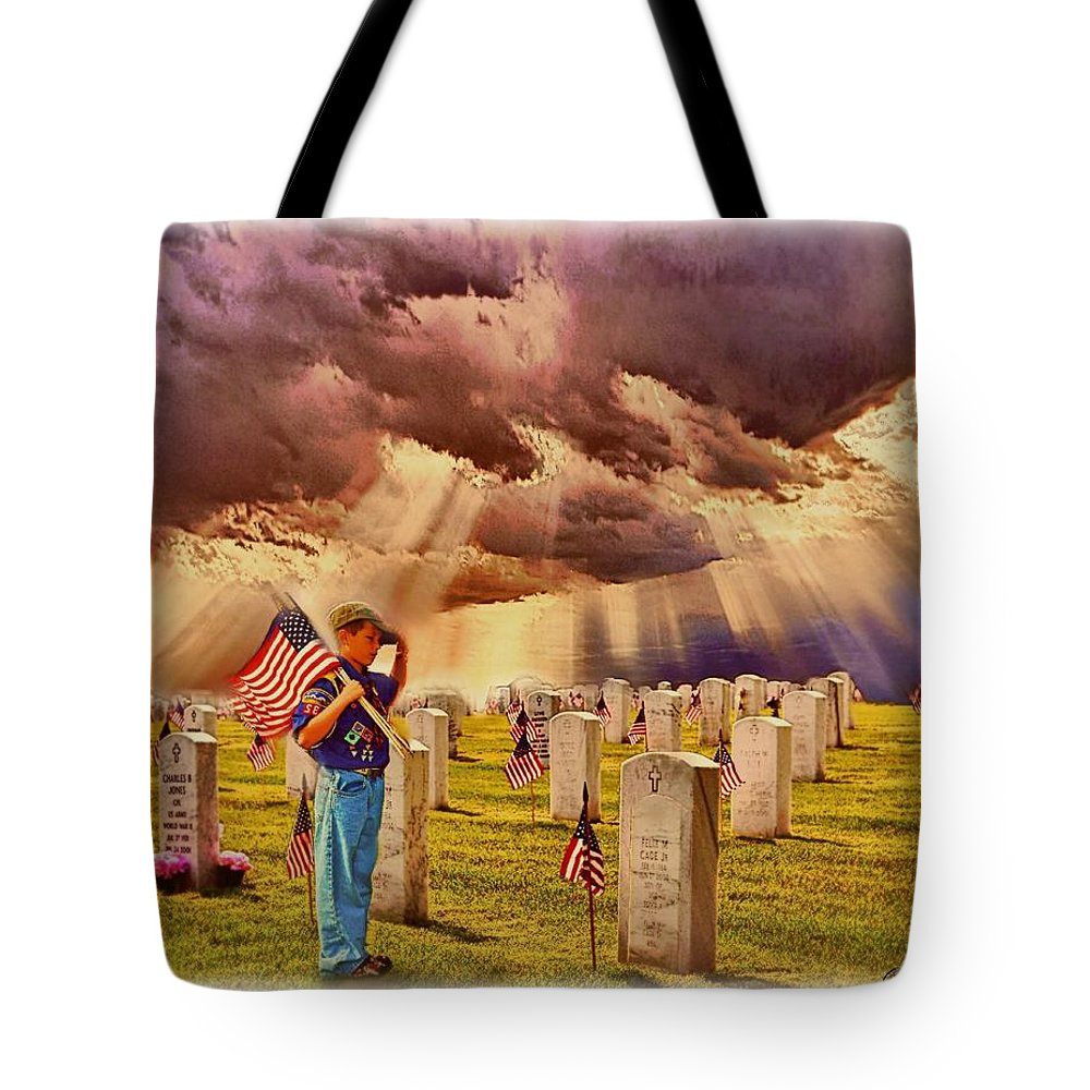 Art Tote Bag featuring the painting Scout's Honor by Charles Ott
