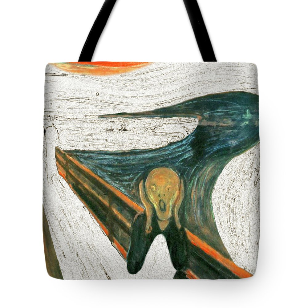 Scream Tote Bag featuring the painting Scream A Bunch Digital by Karla Beatty