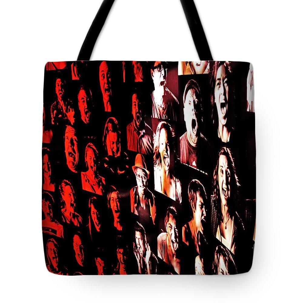 Scream Tote Bag featuring the photograph Scream by Frank Larkin