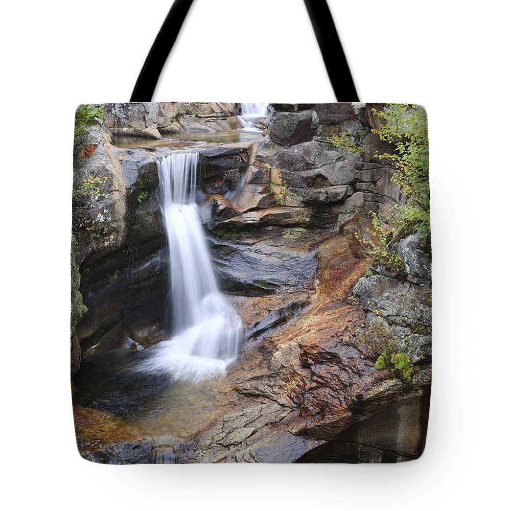 Nature Tote Bag featuring the photograph Screw Auger Falls - Maine by Erin Paul Donovan