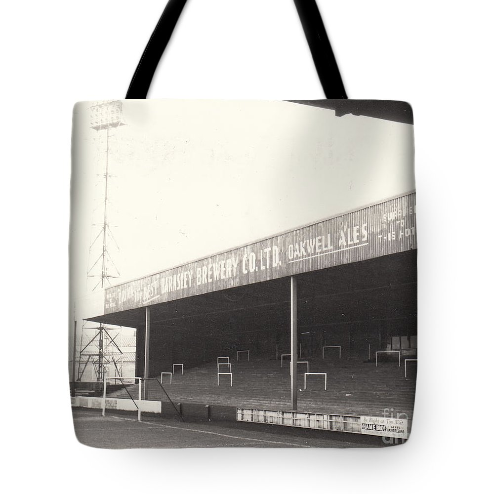 Tote Bag featuring the photograph Scunthorpe United - Old Showground - Doncaster Road End 1 - 1960s by Legendary Football Grounds