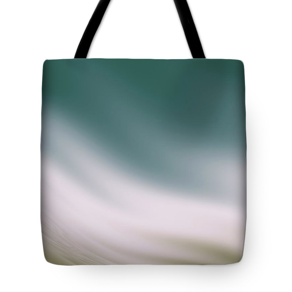 Abstract Tote Bag featuring the digital art Sea And Tan Waves by Rich Leighton
