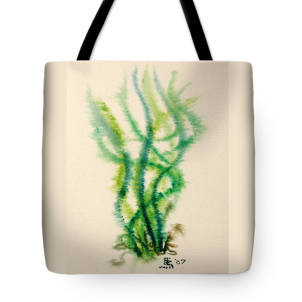 Sea Tote Bag featuring the painting Sea Bed One by Dave Martsolf