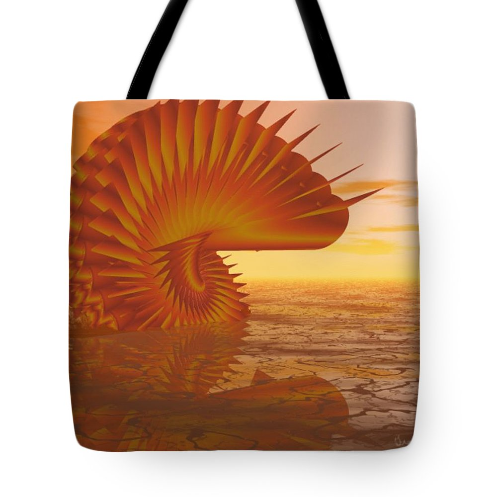 Sea Tote Bag featuring the digital art Sea Creature by Gina Lee Manley