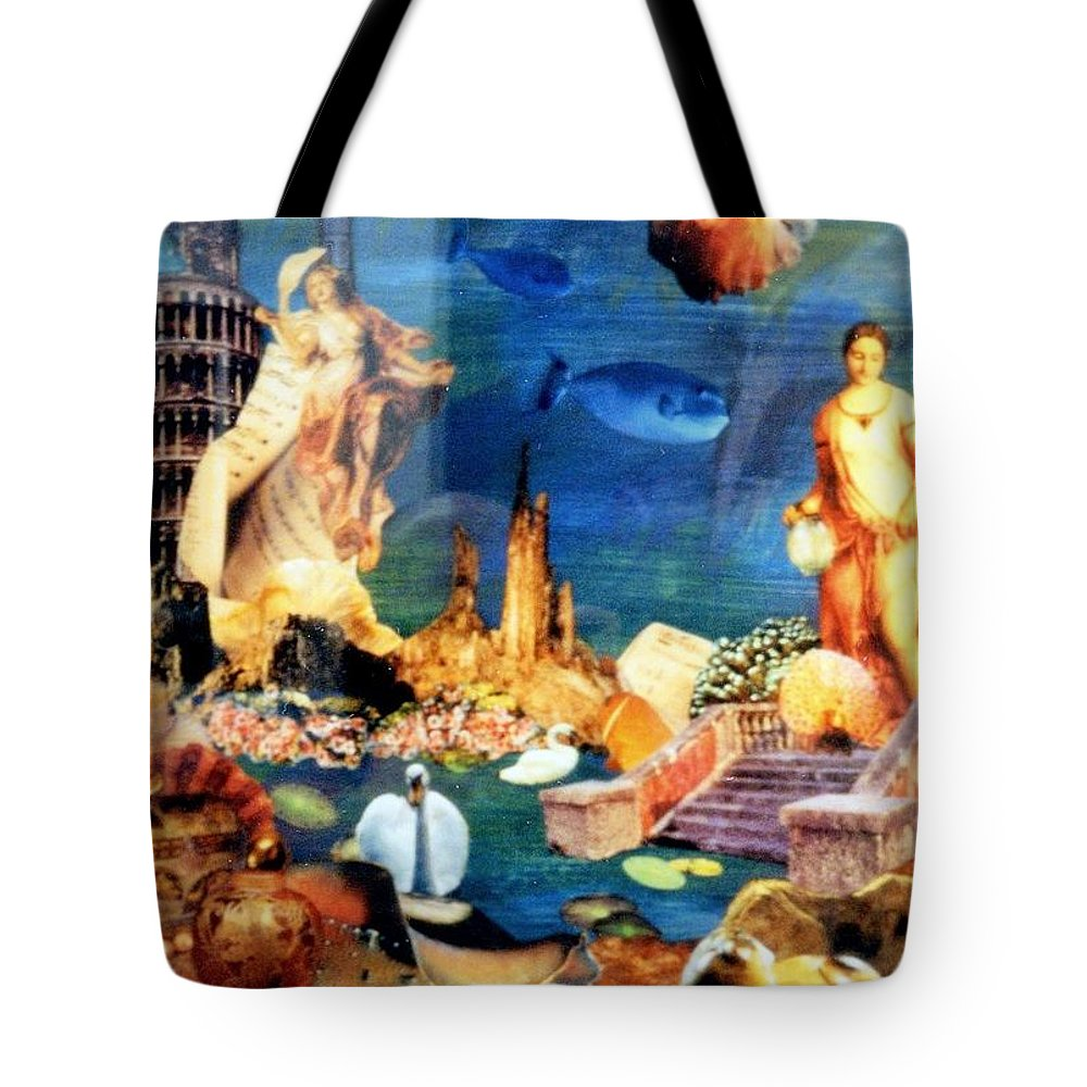 Fantasy Tote Bag featuring the painting Sea Garden by Gail Kirtz