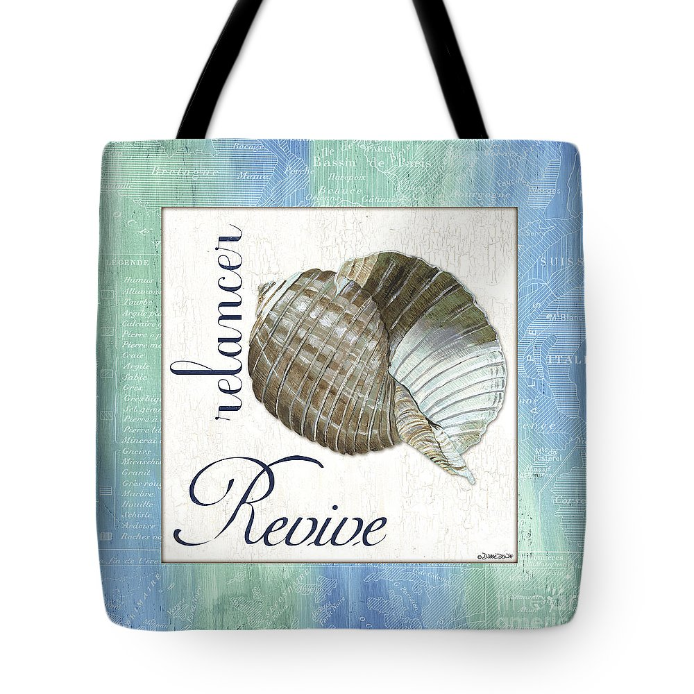 Shell Tote Bag featuring the painting Sea Glass 4 by Debbie DeWitt