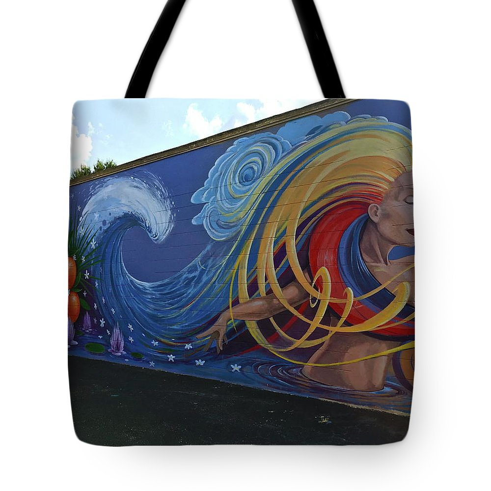 Mural Tote Bag featuring the photograph Sea Goddess by Denise Mazzocco
