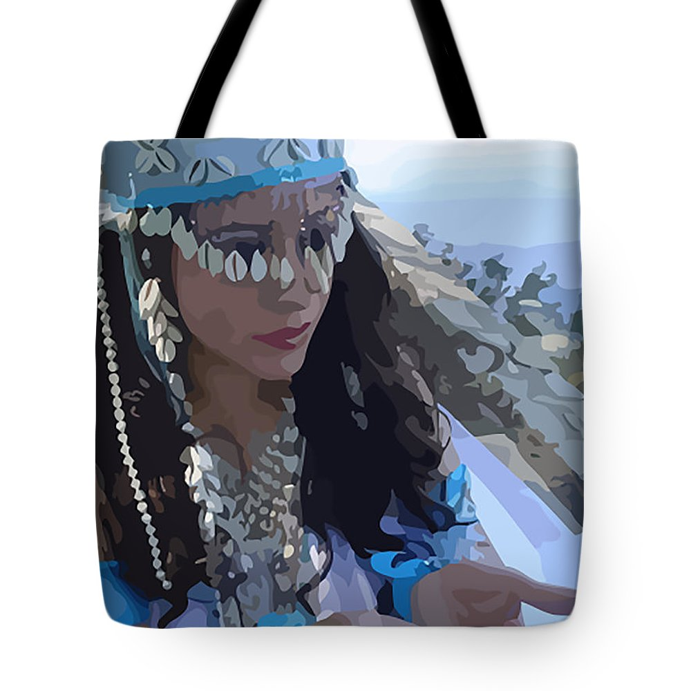 Sea Goddess Tote Bag featuring the painting Sea Goddess by Marcus Wang