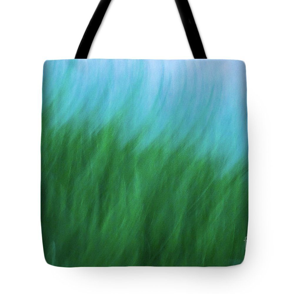 Abstract Tote Bag featuring the photograph Sea Grass Breeze by Robin Zygelman