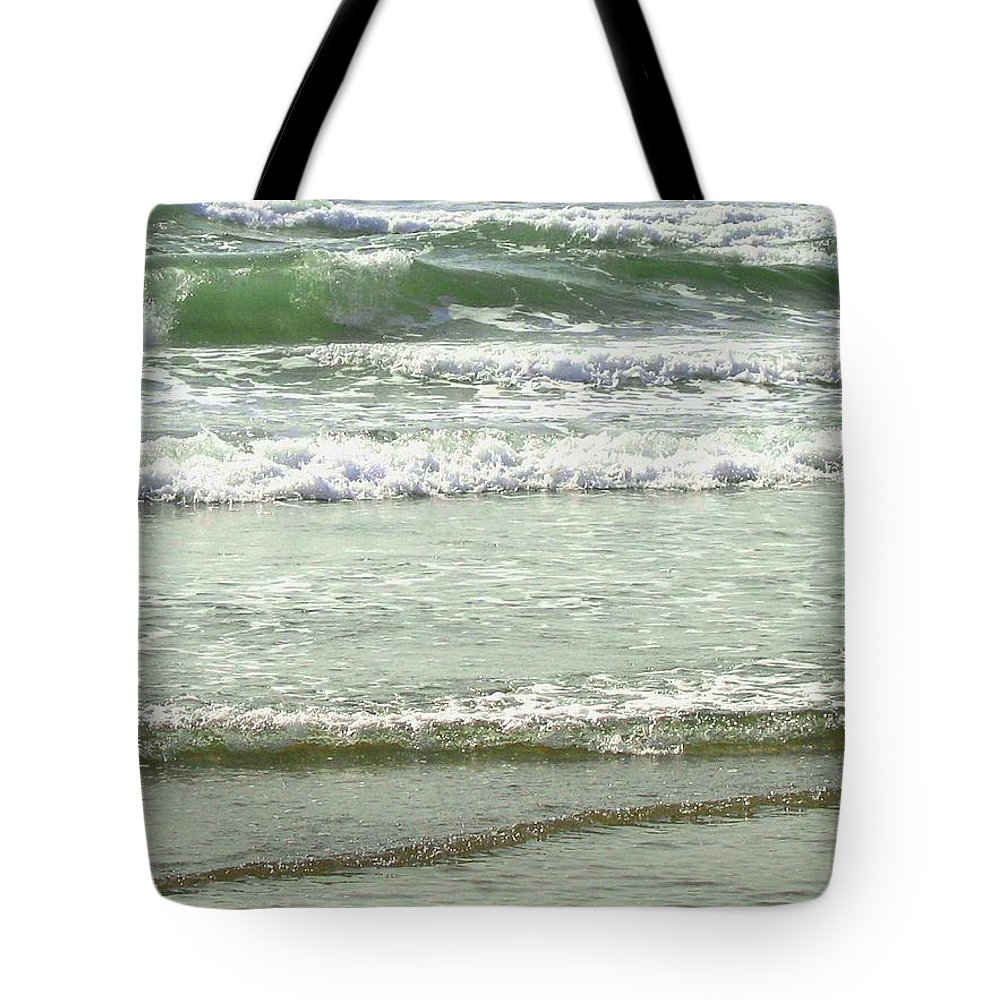Sea Tote Bag featuring the photograph Sea Green by Will Borden