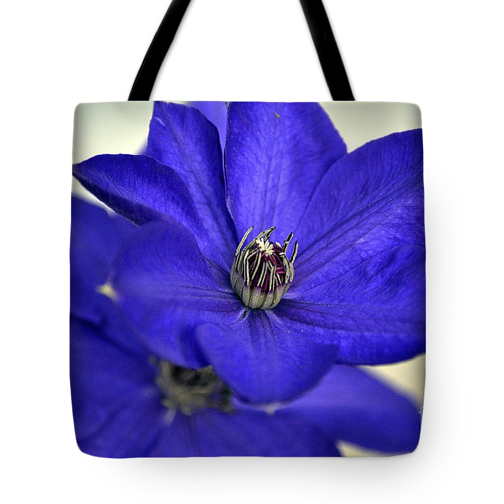 Clay Tote Bag featuring the photograph Sea Of Blue by Clayton Bruster