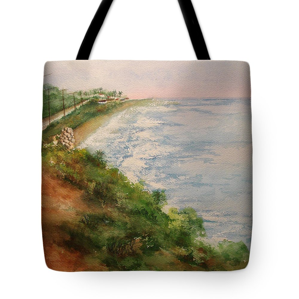 Landscape Tote Bag featuring the painting Sea Of Dreams by Debbie Lewis