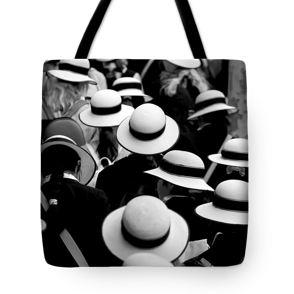 Hats Schoolgirls Tote Bag featuring the photograph Sea Of Hats by Sheila Smart Fine Art Photography