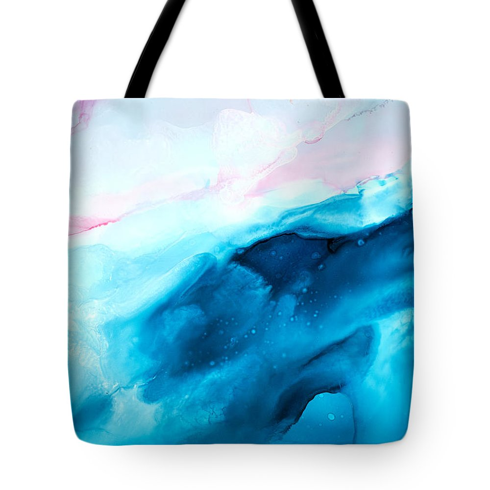 Abstract Tote Bag featuring the painting Sea of Love - A by Sandy Sandy