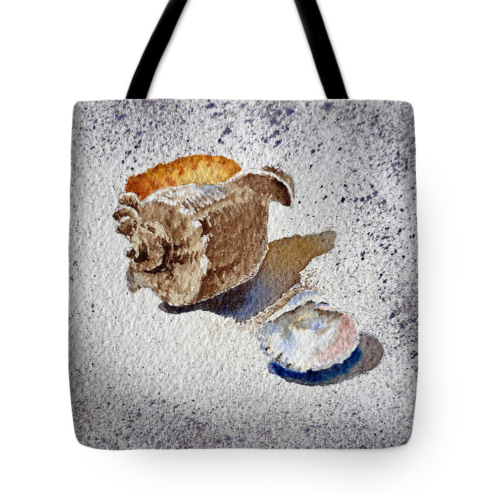 Sea Shells Tote Bag featuring the painting Sea Shells by Irina Sztukowski