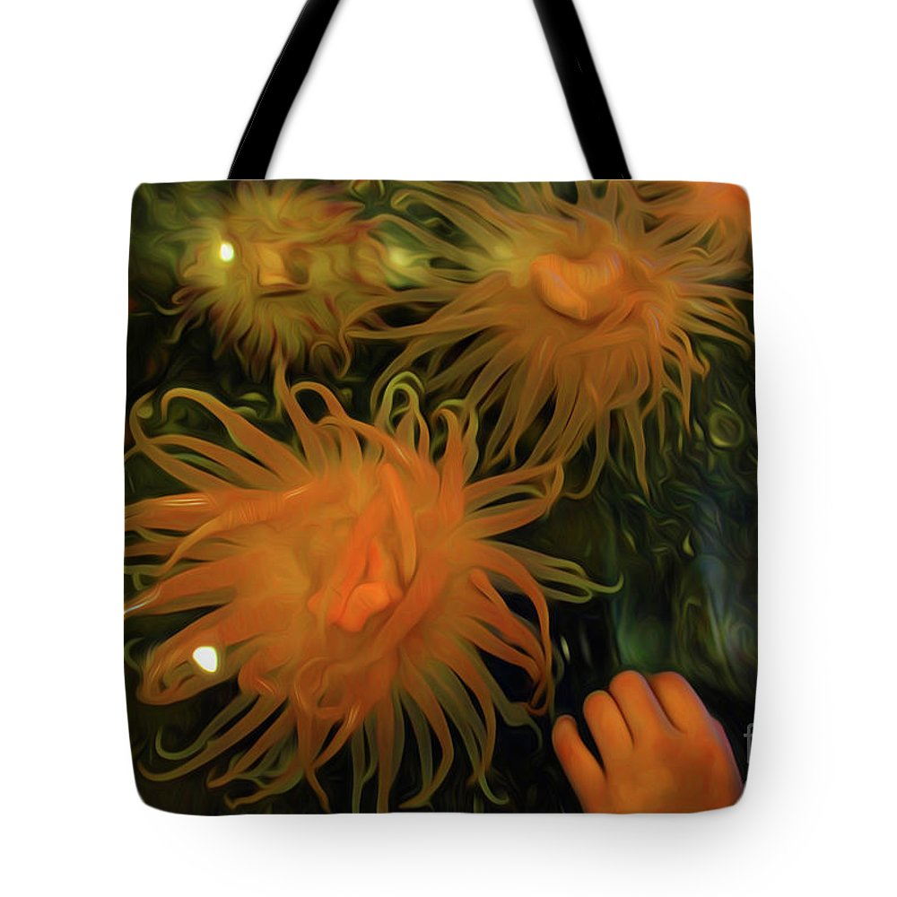 Sea Urchin 12 Tote Bag featuring the digital art Sea Urchin 12 by Chris Taggart