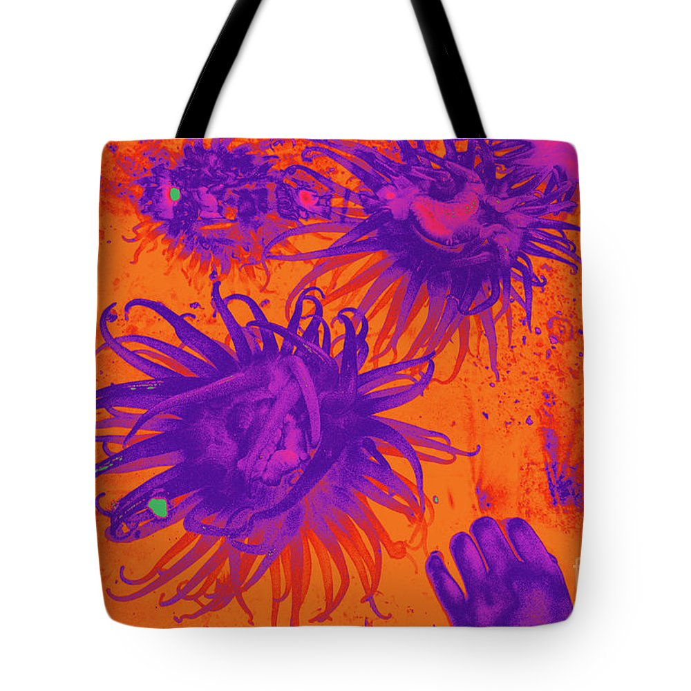 Sea Urchin 14 Tote Bag featuring the digital art Sea Urchin 14 by Chris Taggart