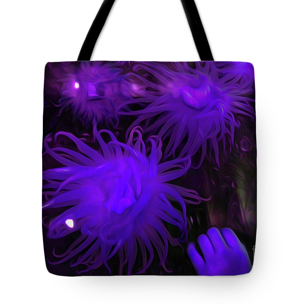 Sea Urchin 8 Tote Bag featuring the digital art Sea Urchin 8 by Chris Taggart