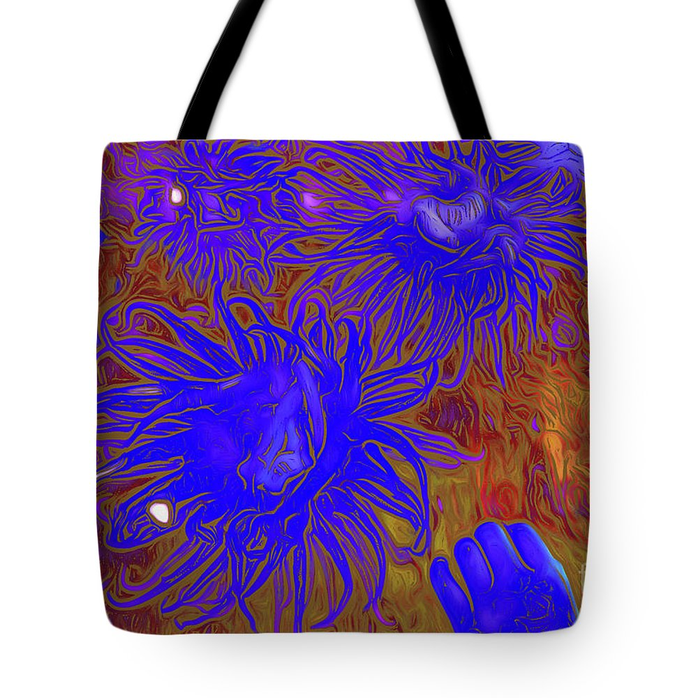 Sea Urchin 9 Tote Bag featuring the digital art Sea Urchin 9 by Chris Taggart