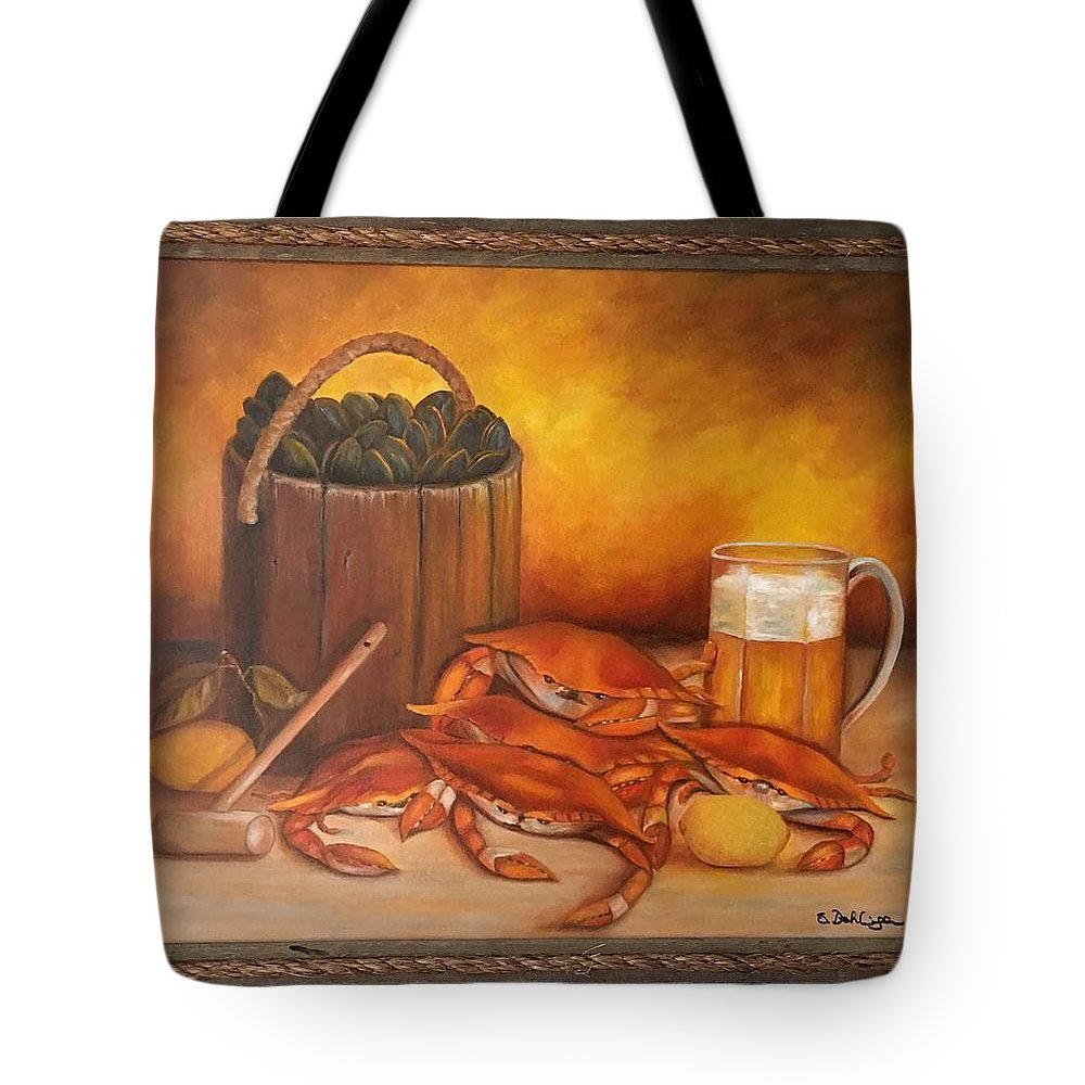 Seafood Tote Bag featuring the painting Seafood Night by Susan Dehlinger