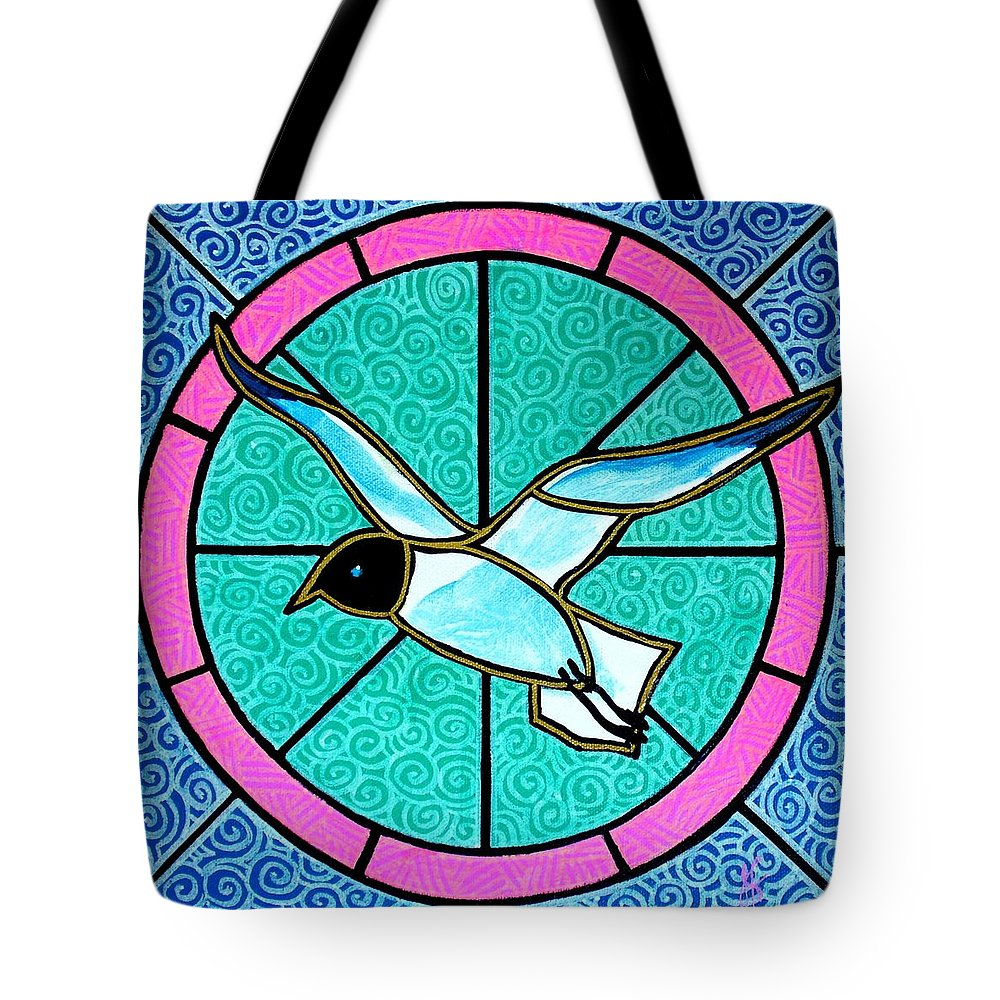 Seagull Tote Bag featuring the painting Seagull 4 by Jim Harris