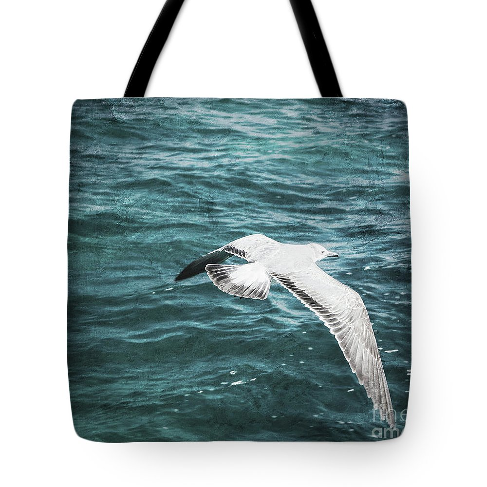 Seagull Tote Bag featuring the photograph Seagull by Margaret Koc