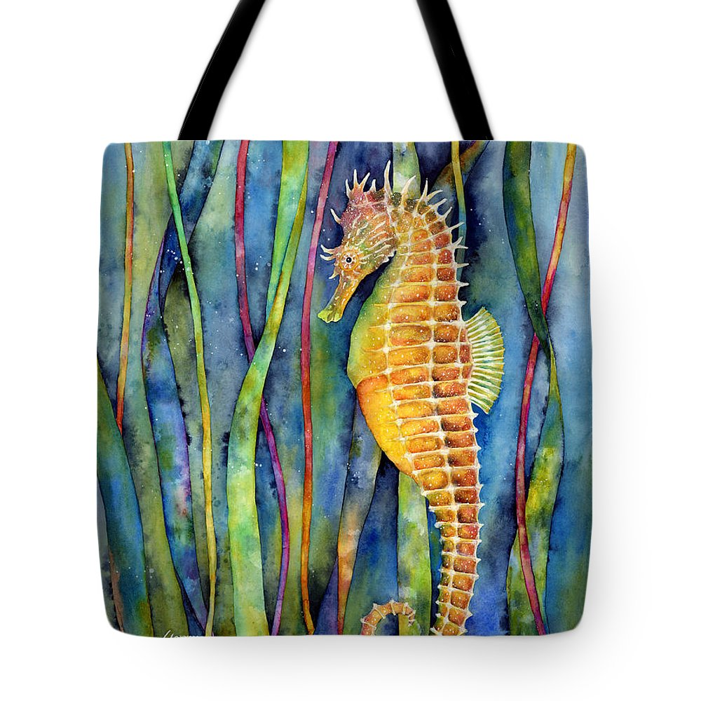 Seahorse Tote Bag featuring the painting Seahorse by Hailey E Herrera
