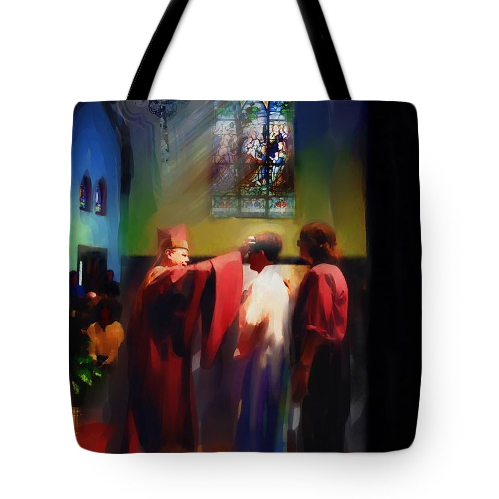 Confirmation Tote Bag featuring the photograph Seans Confirmation by Jeff Breiman