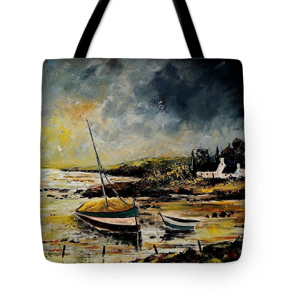 Sea Tote Bag featuring the painting Seascape 452654 by Pol Ledent