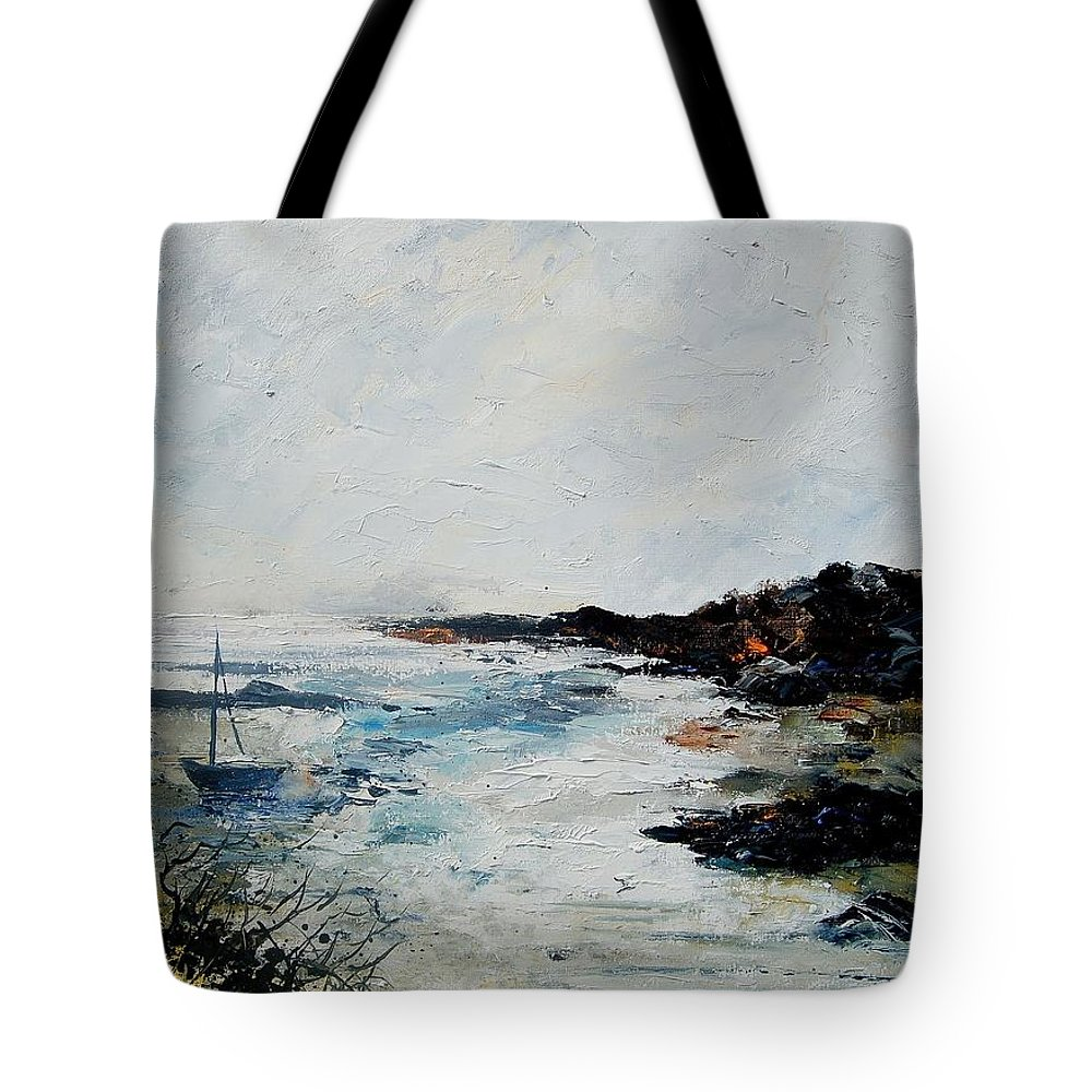 Sea Tote Bag featuring the painting Seascape 68 by Pol Ledent