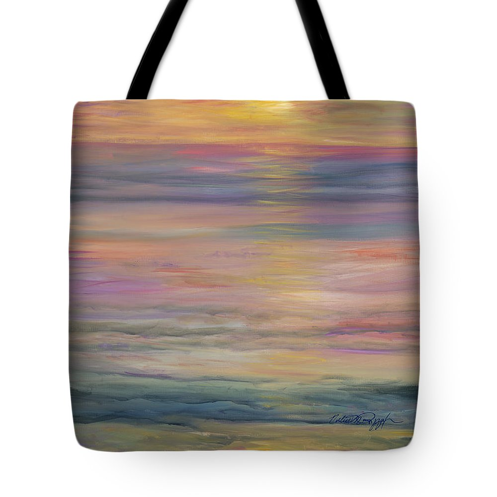 Sea Tote Bag featuring the painting Seascape by Nadine Rippelmeyer