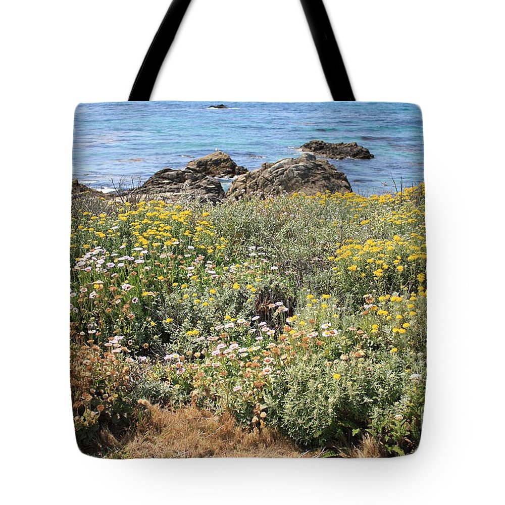 Seaside Flowers Tote Bag featuring the photograph Seaside Flowers by Carol Groenen